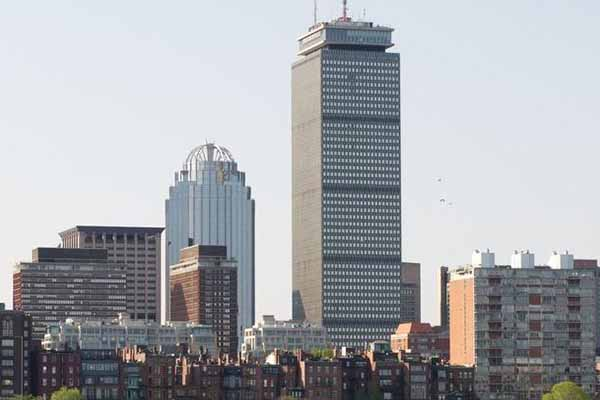 city of Boston with Prudential Building shown