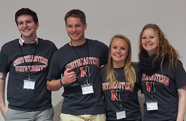 Northeastern chapter of transportation engineers pose at competition