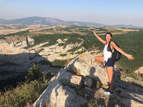 Elise exploring Armenia