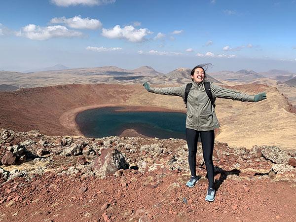 elise at top of peak