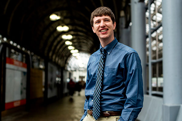 michael tormey inside train station